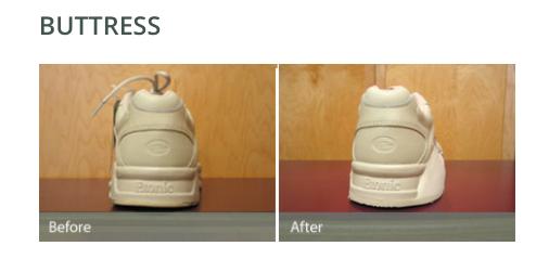 custom buttress shoe modification